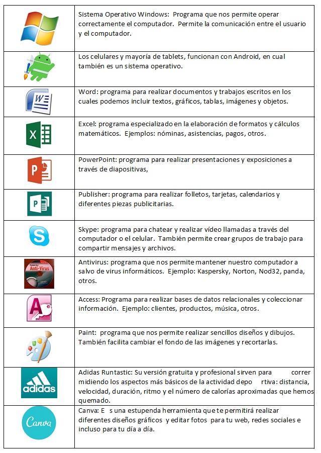 Los programas (software)
